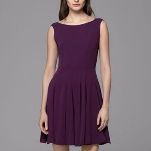 Theory kaien elderberry pleated skirt dress